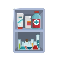 first aid kit medical equipment vector image