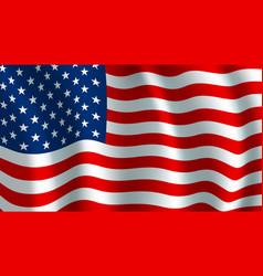 Flag usa american national symbol vector