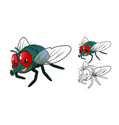 Fly Cartoon Character vector image