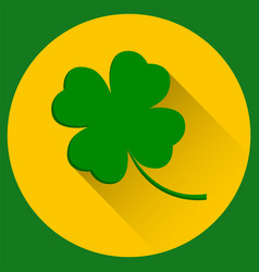 Four leaf clover st patricks day green icon vector
