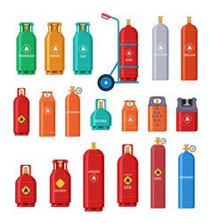 Gas cylinder oxygen metal tank bottle storage vector