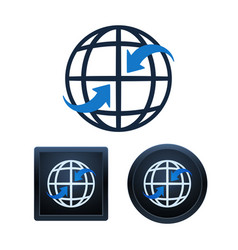global communication icons design isolated vector image