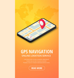 Gps navigation vertical banner vector