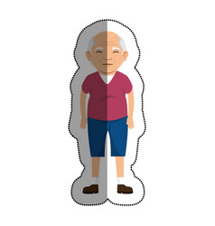 Grandfather with sport clothes avatar character vector