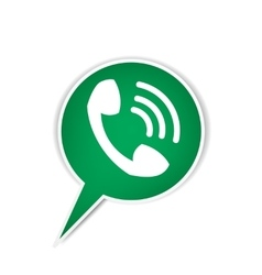 Green phone bubble icon vector
