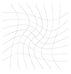 Grid mesh lines with circular spiral twist vector