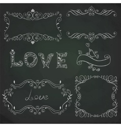Hand drawn vignettes on board vector