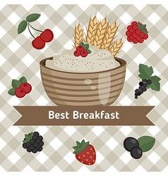 Healthy breakfast concept vector image