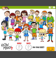 How many girls and boys educational task vector