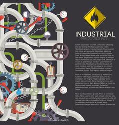 industrial mechanism concept vector image