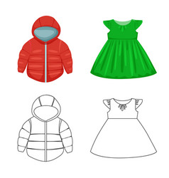 Isolated object fashion and garment symbol vector