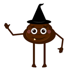 isolated poop emoji vector image