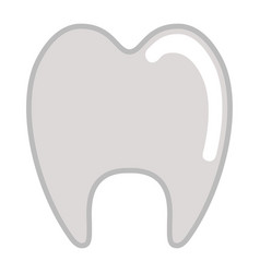isolated tooth icon vector image
