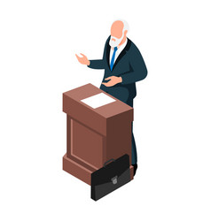 Isometric lecturer vector