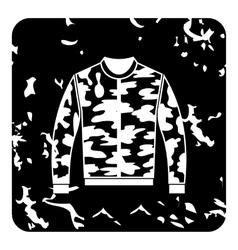 Jacket icon grunge style vector