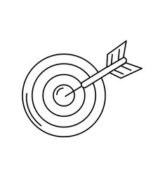 Line dart target board to strategy competition vector