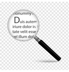 magnifying glass isolated on transparent vector image