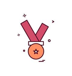 medal award icon design vector image