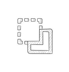 Merge sketch icon vector