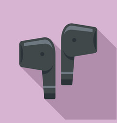 mobile wireless earbuds icon flat style vector image