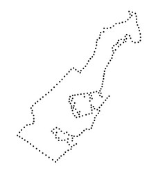 Monaco map abstract schematic from black dots vector