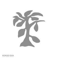 Monochrome icon with adinkra symbol kokoo dua vector