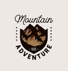 mountain adventure emblem logo template vector image