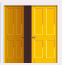 opened yellow door freedom opening concept vector image