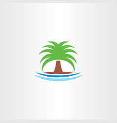 palm icon tree symbol logo vector image