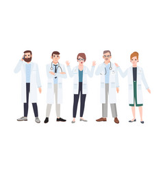 Panel of doctors or council of physicians vector