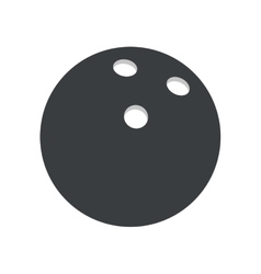Pictogram bowlling ball sport vector