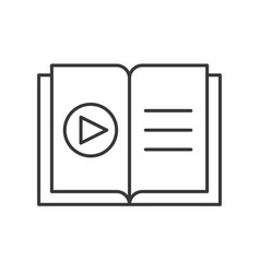 Play button on book online education icon concept vector