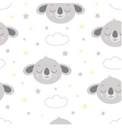 scandinavian pattern cute koala vector image