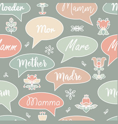 seamless pattern with speech bubbles and words vector image