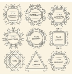 Set logo design company vector image