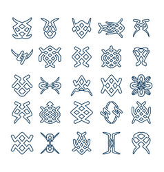 Set of design geometric fancy abstract characters vector