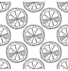 slices of lemon or orange citrus seamless vector image