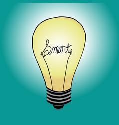 Smart bulb vector