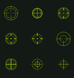 Sniper sight symbol crosshair target set of icons vector