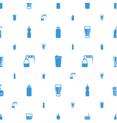 soda icons pattern seamless white background vector image