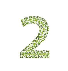Spring green leaves eco number 2 vector image