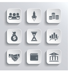 Startup business icon web icons set vector image