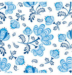 swirl floral seamless pattern ornamental flourish vector image