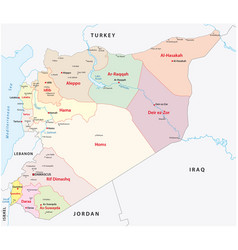 Syria administrative divisions map vector