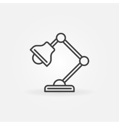 Table-lamp icon vector
