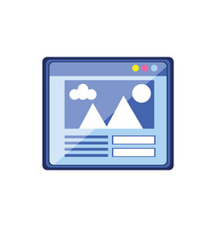 template webpage interface icon vector image