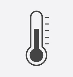 thermometer icon goal flat isolated on white vector image