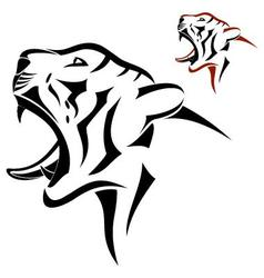 Tiger head symbol vector image