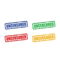 uncensored set vector image