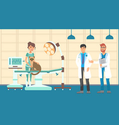 vet appointment flat color vector image